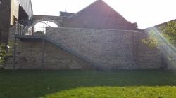 mur escalier verger